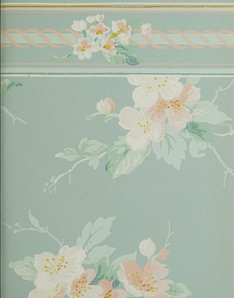 1940s vintage wallpaper from Ward's - 40s home decor (47)