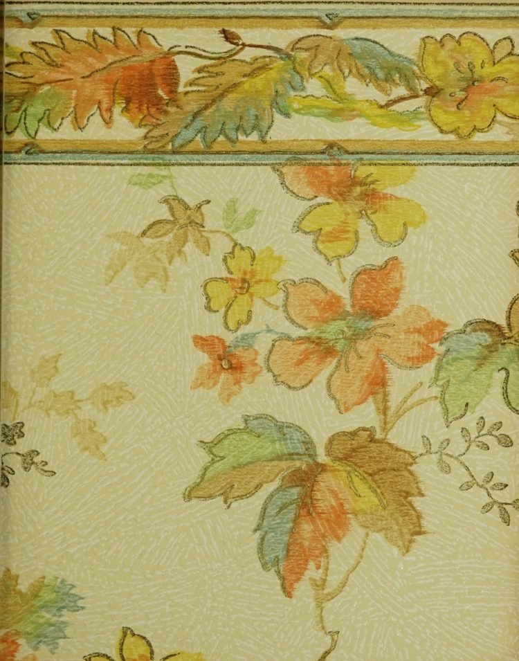 1940s vintage wallpaper from Ward's - 40s home decor (49)