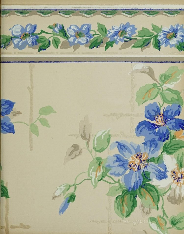 1940s vintage wallpaper from Ward's - 40s home decor (52)