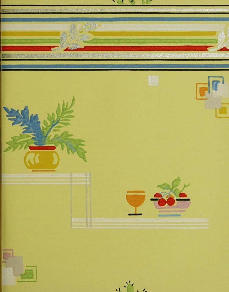 1940s vintage wallpaper from Ward's - 40s home decor (54)