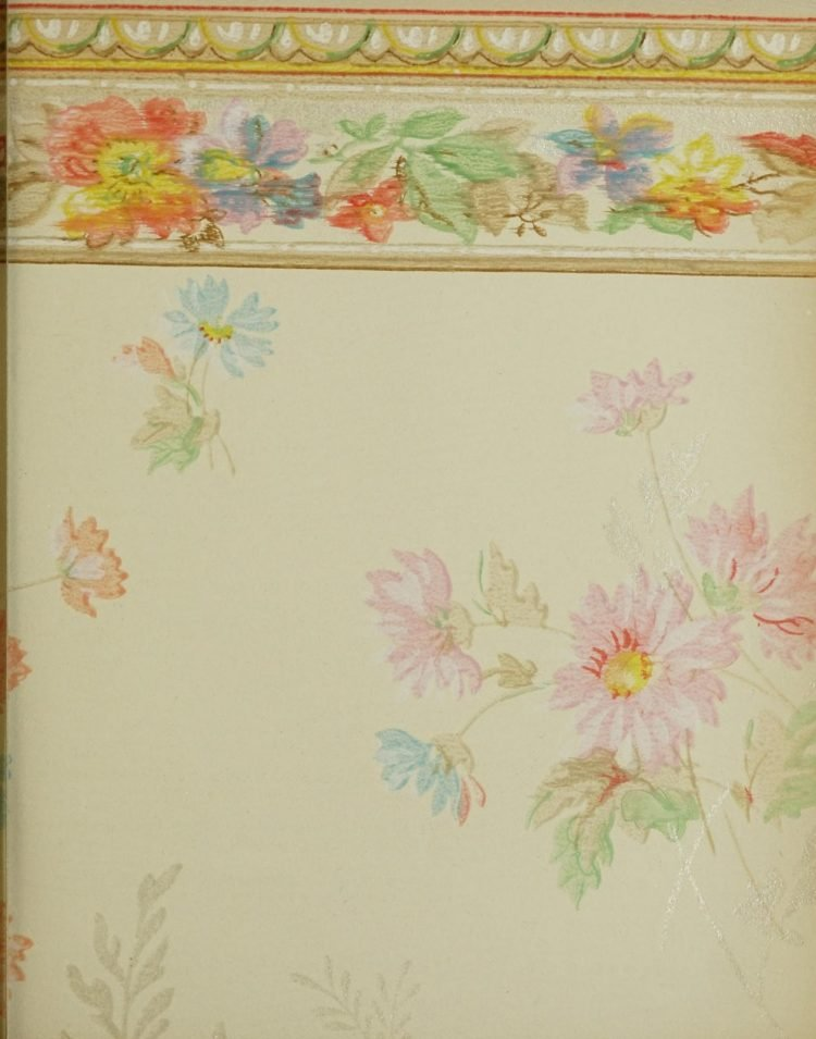 1940s vintage wallpaper from Ward's - 40s home decor (55)