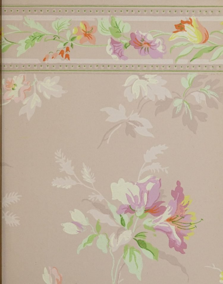 1940s vintage wallpaper from Ward's - 40s home decor (56)