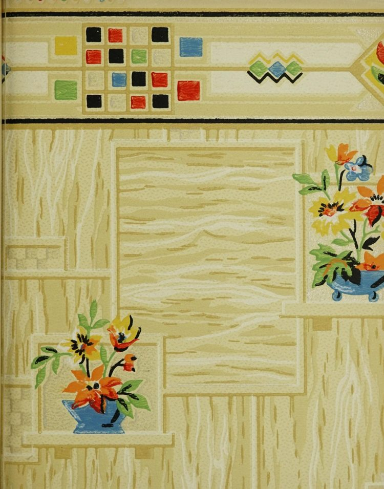 1940s vintage wallpaper from Ward's - 40s home decor (57)