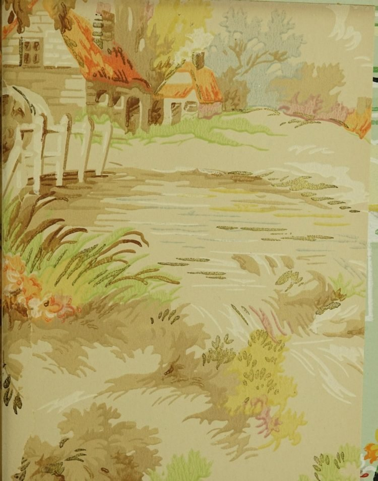 1940s vintage wallpaper from Ward's - 40s home decor (61)