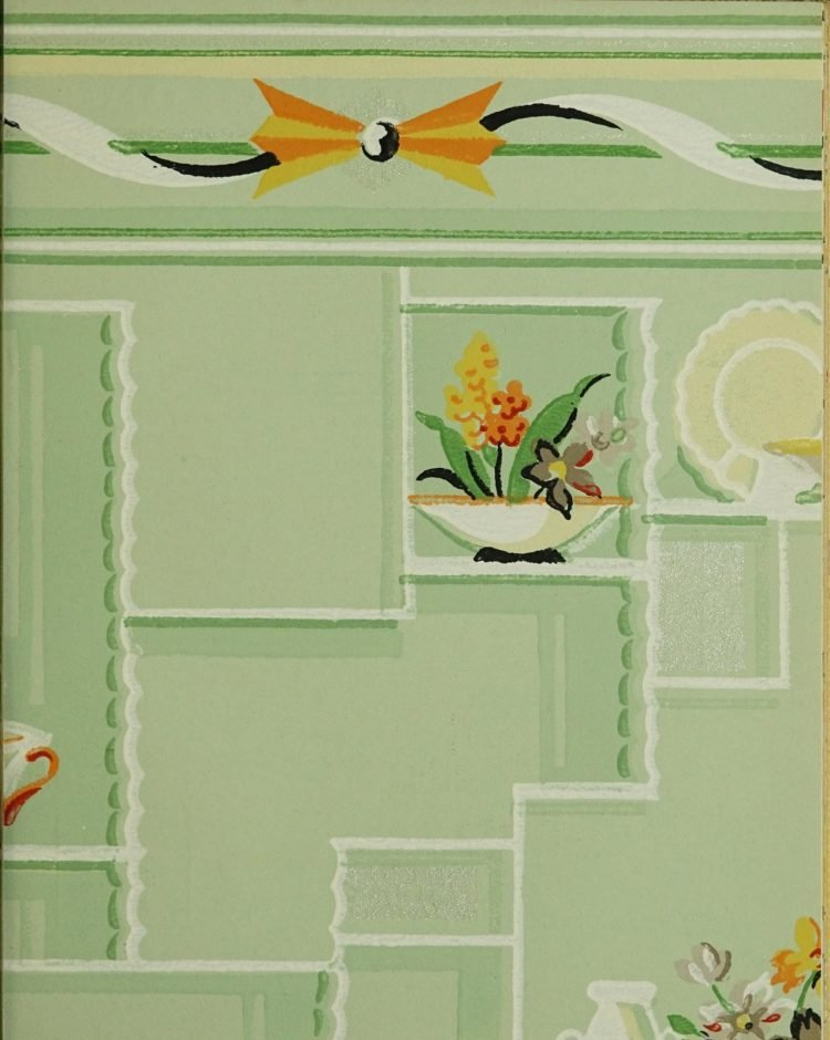 1940s vintage wallpaper from Ward's - 40s home decor (62)