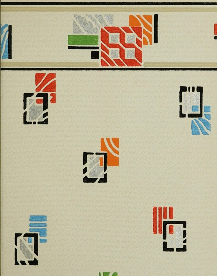 1940s vintage wallpaper from Ward's - 40s home decor (63)