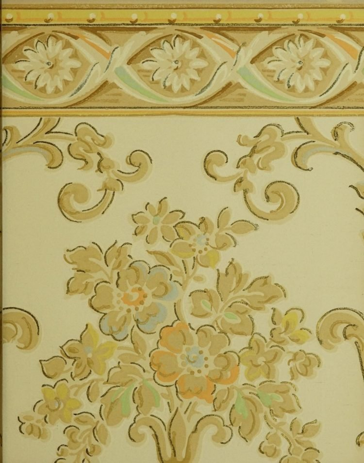 1940s vintage wallpaper from Ward's - 40s home decor (64)