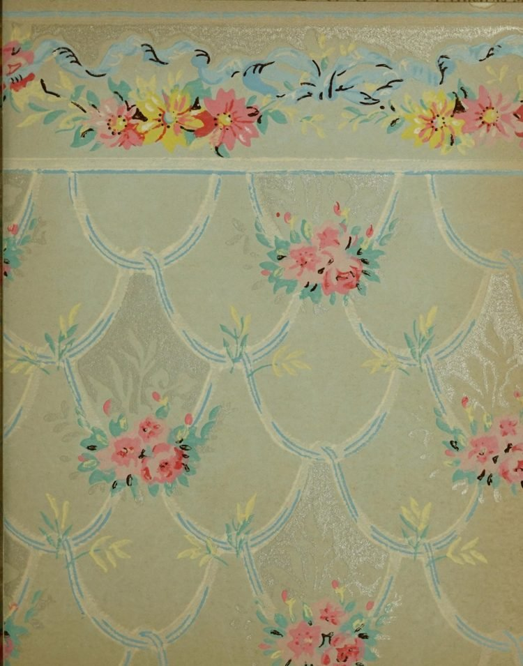 1940s vintage wallpaper from Ward's - 40s home decor (65)