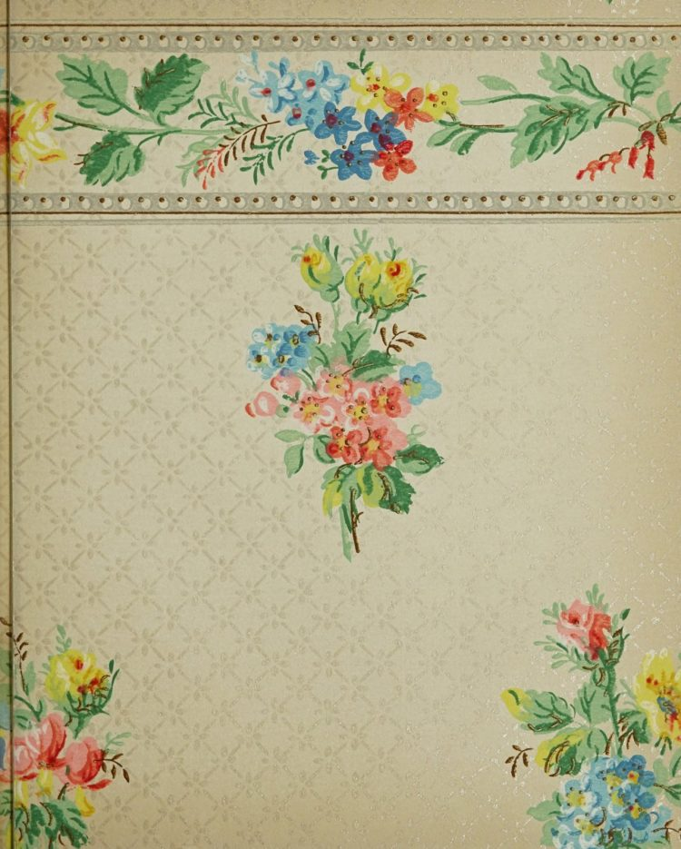 1940s vintage wallpaper from Ward's - 40s home decor (66)