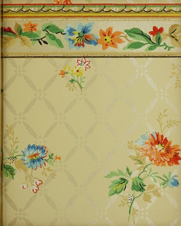 1940s vintage wallpaper from Ward's - 40s home decor (67)