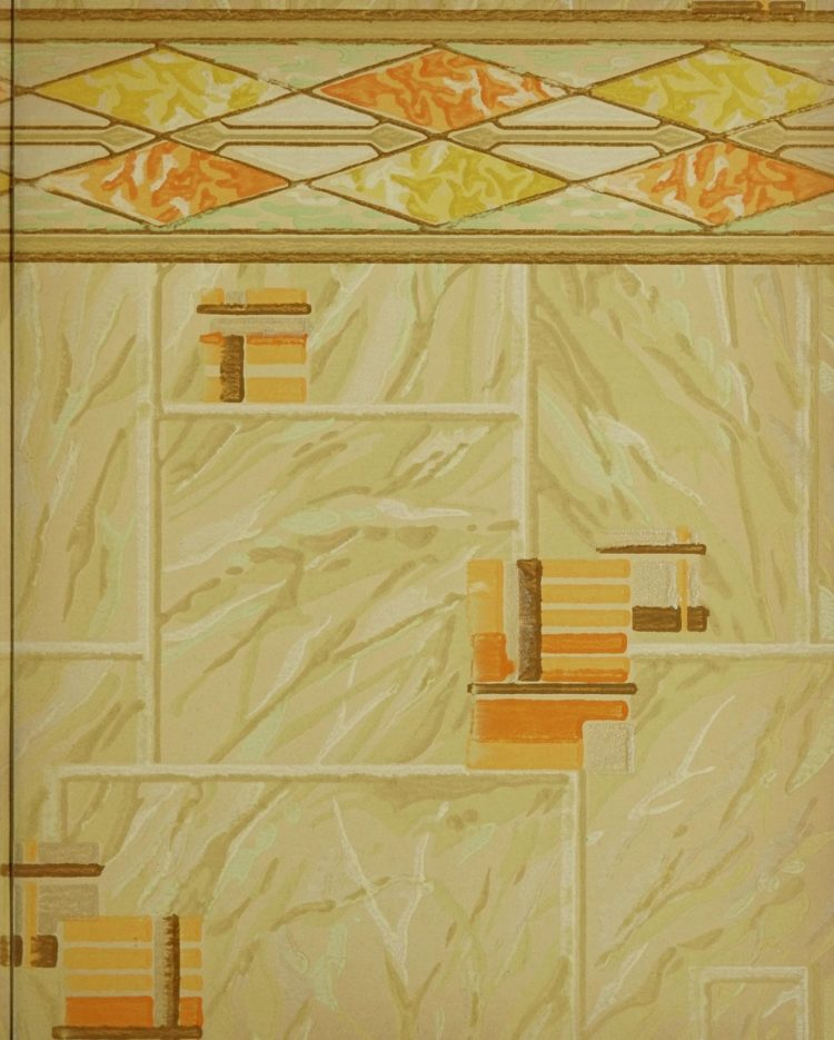 1940s vintage wallpaper from Ward's - 40s home decor (70)