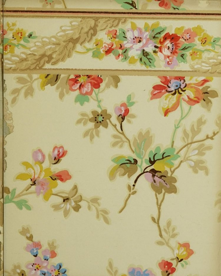 1940s vintage wallpaper from Ward's - 40s home decor (71)