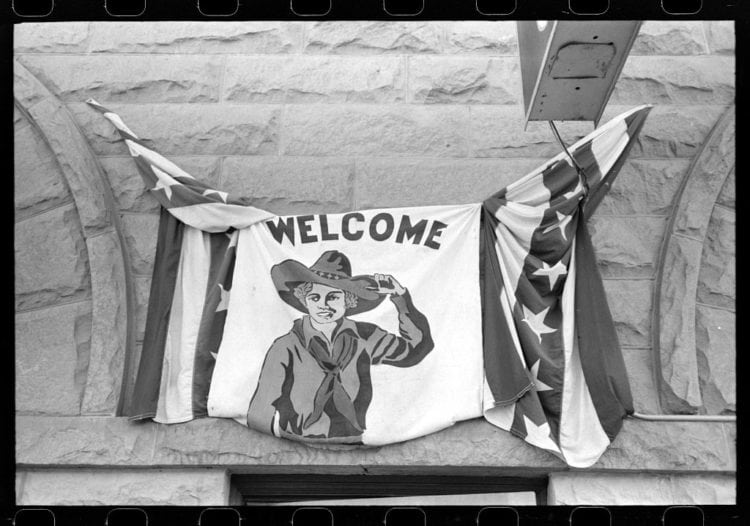 1941 Decorations on the Fourth of July. Vale, Oregon