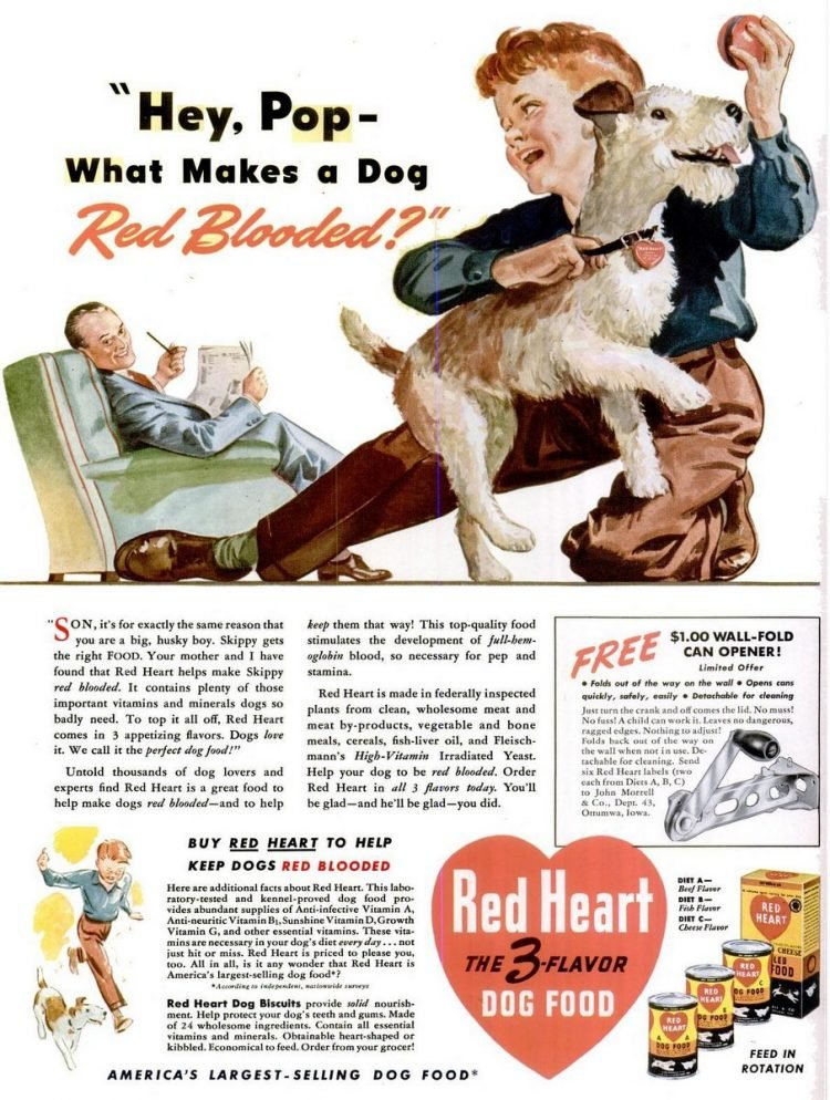 1941 Red Heart dog food