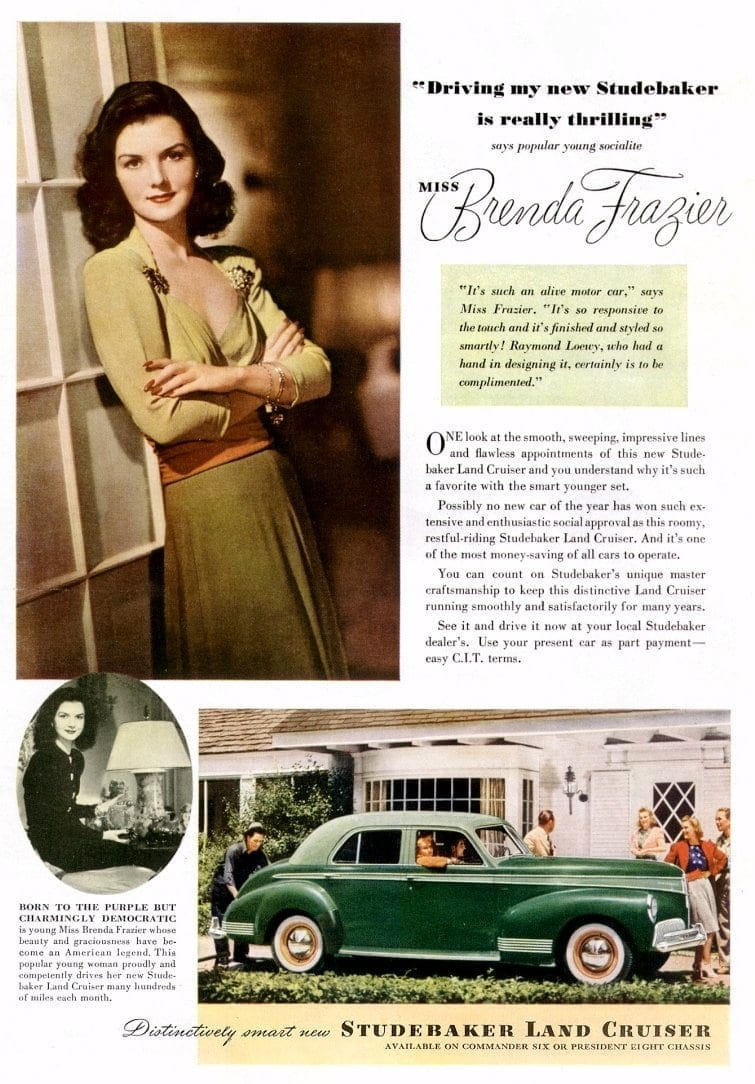1941 Studebaker Land Cruiser Miss Brenda Frazier