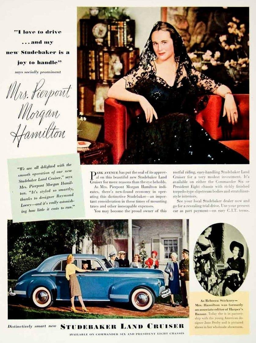 1941 Studebaker Land Cruiser Mrs Pierpont Morgan Hamilton