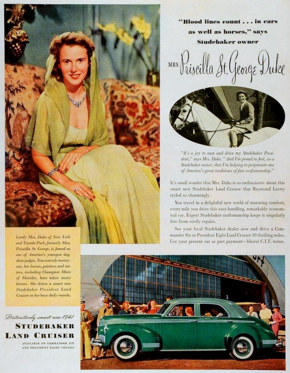 1941 Studebaker Land Cruiser Mrs Priscilla St George Duke