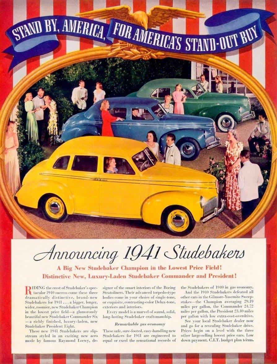1941 Studebaker cars debut