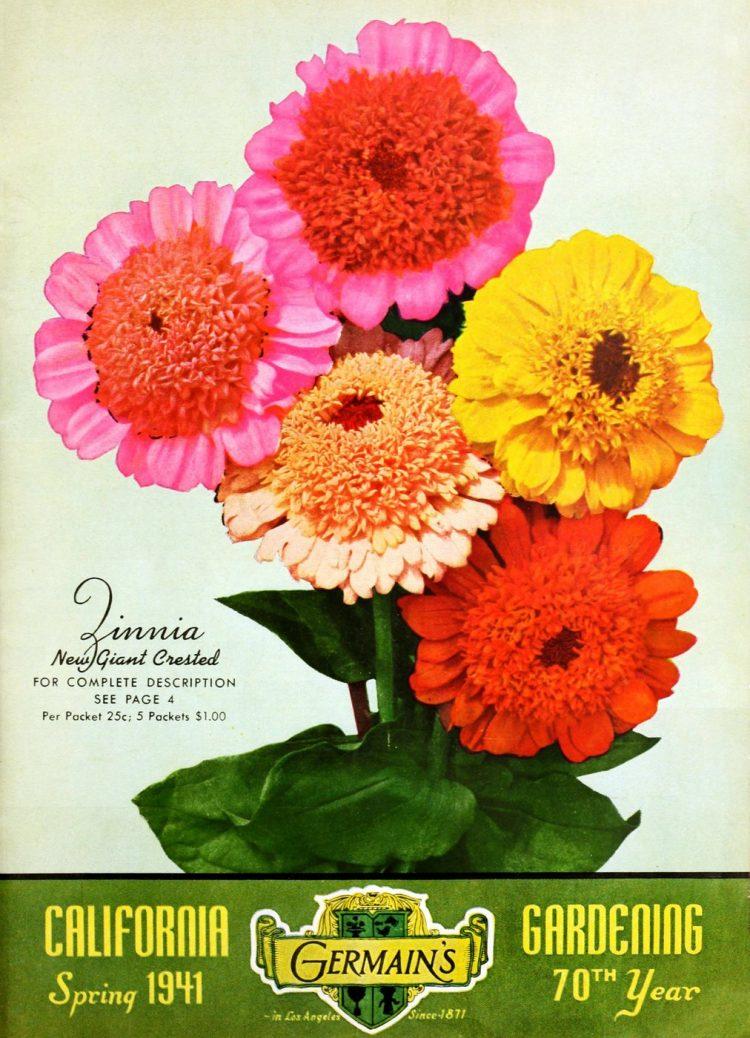 1941 gardening catalog - Zinnias