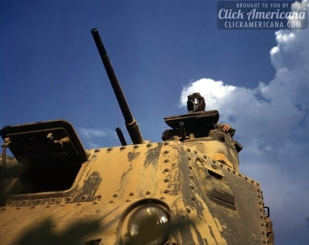 1942 Tank commander, Ft. Knox, Ky