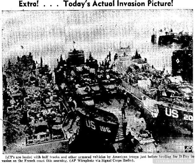 1944 Extra - Today's Actual Invasion Picture d-day