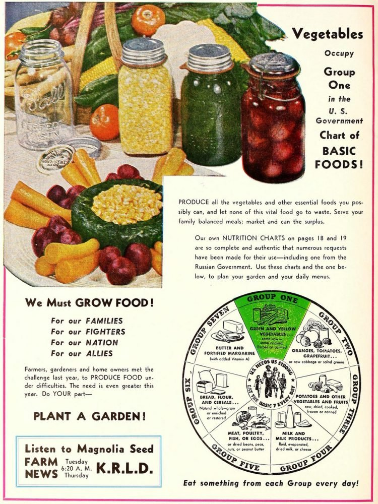 1944 WW2 - We must grow food - Plant a garden