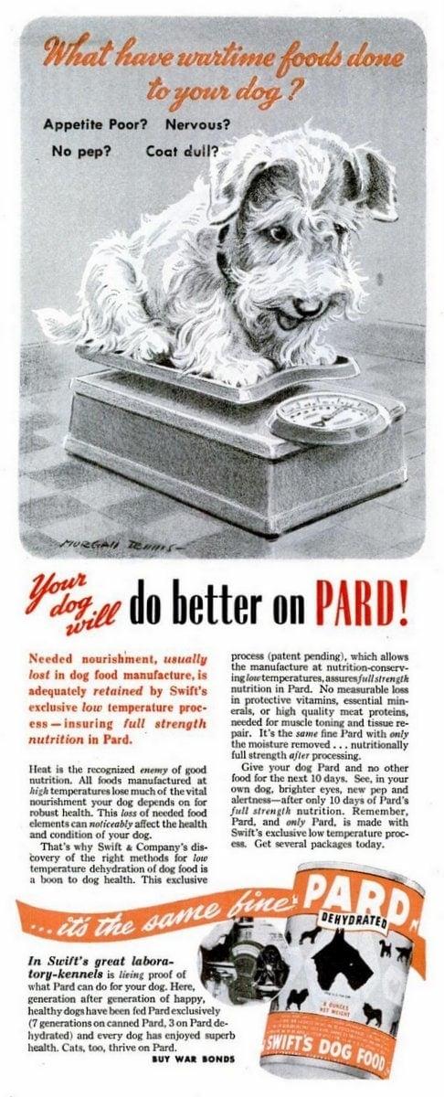 1945 Pard dog food