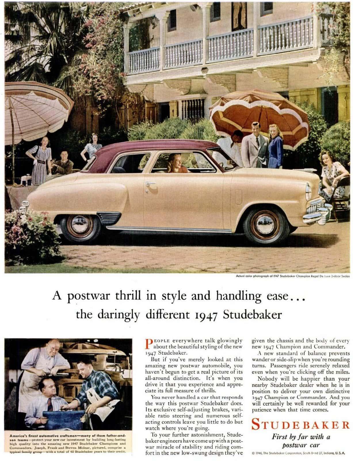 1946 1947 Studebaker cars