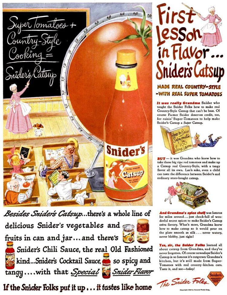 1946 Snider's catsup