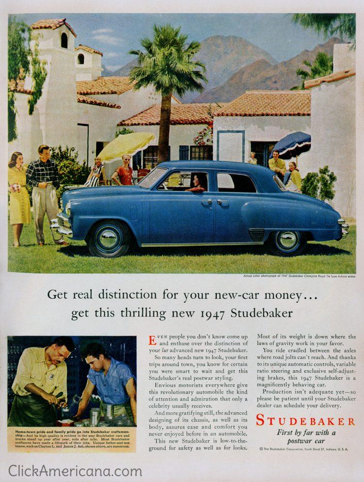 1947 Studebakers - Blue classic car