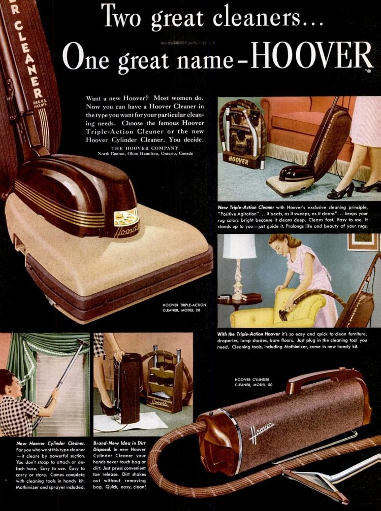 1947 Vintage Hoover vacuum cleaners