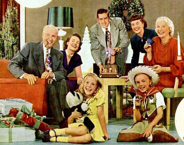 1948 Christmas family