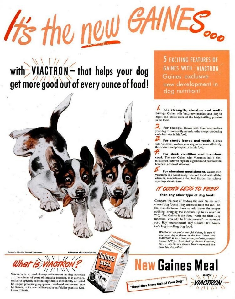 1948 Gaines dog food