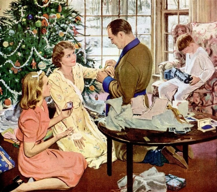 1948 family christmas