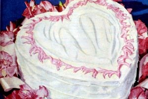 1949 Sweetheart Valentine's Day cake