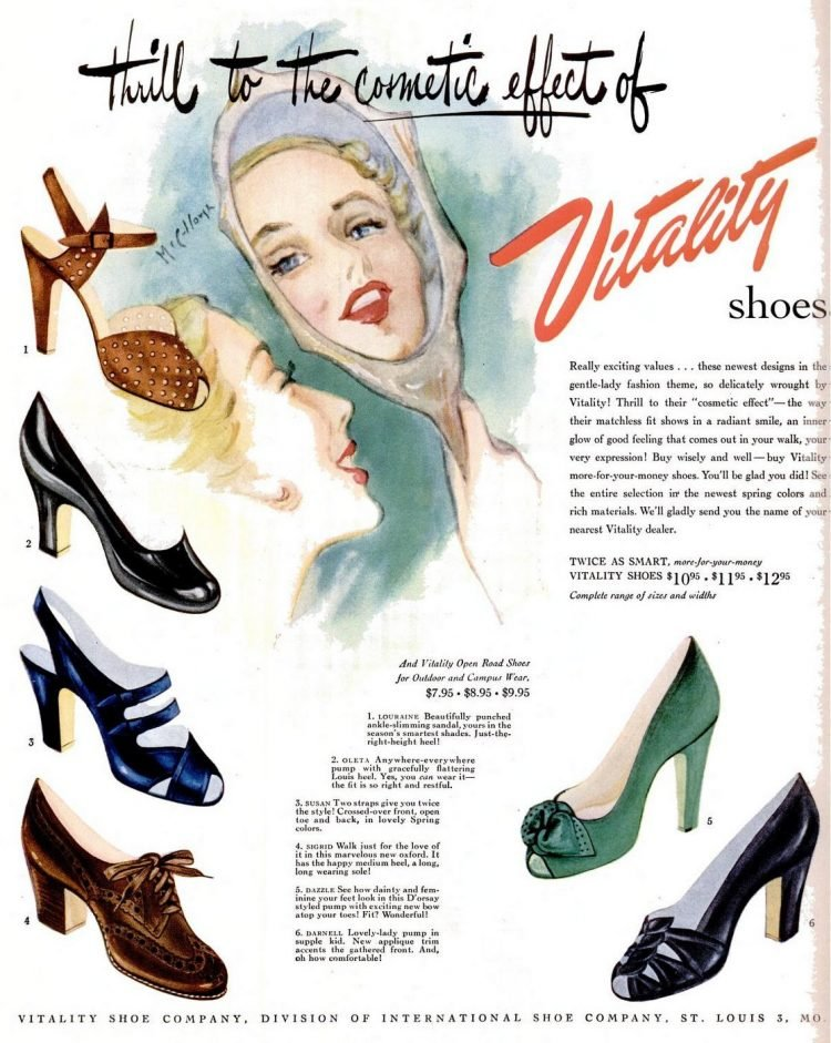 Vitality's open road and outdoor wear shoes (1949)