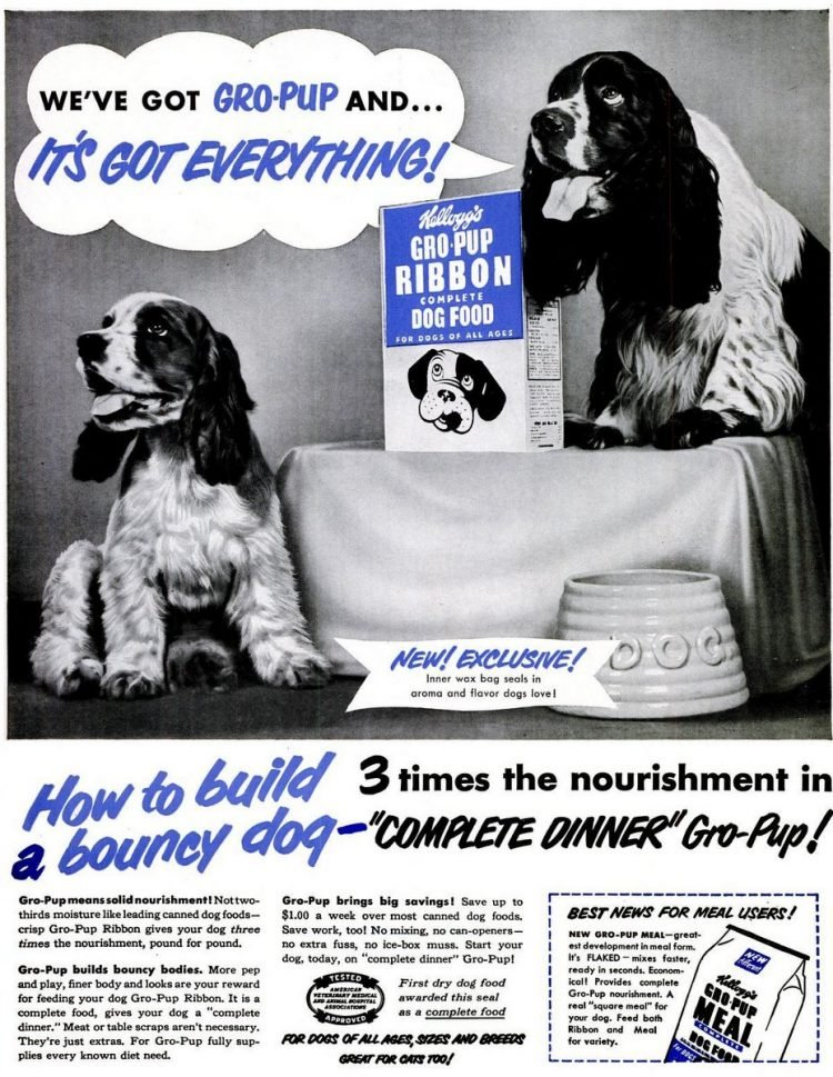 1950 Gro-Pup dog food