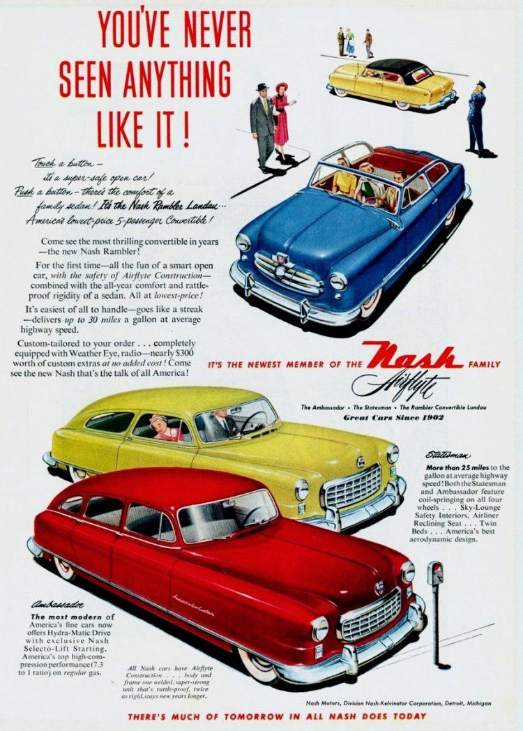 1950 Nash Rambler Landau 5-passenger convertible