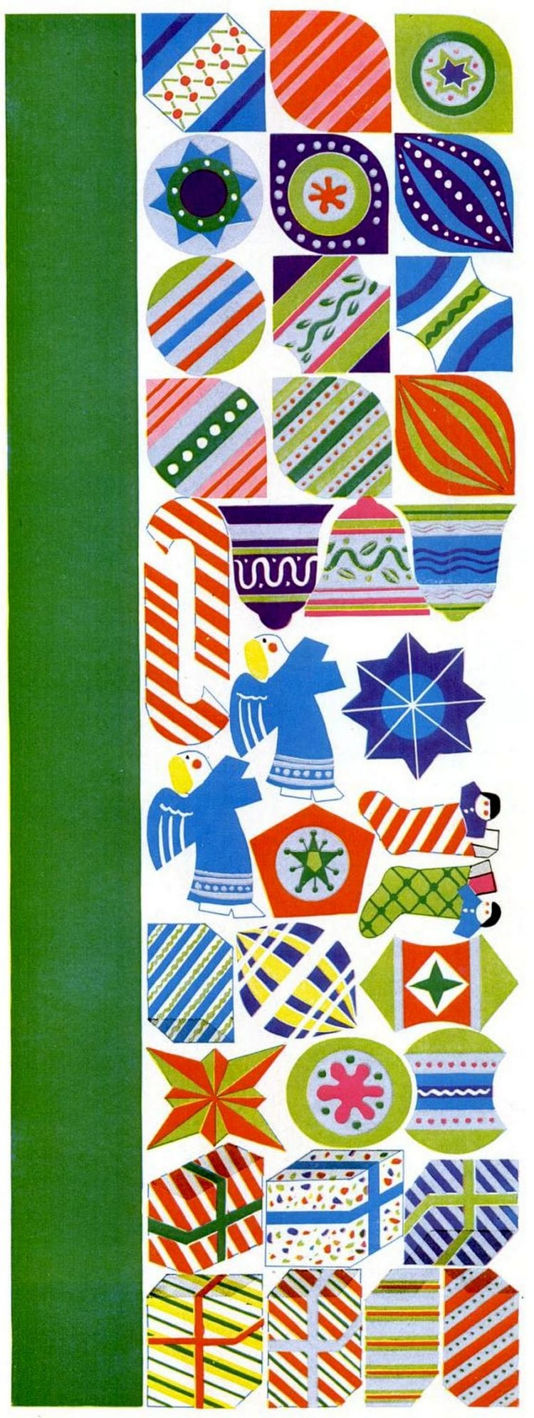 1950 Paper Christmas tree craft - Ornaments and decorations (1)