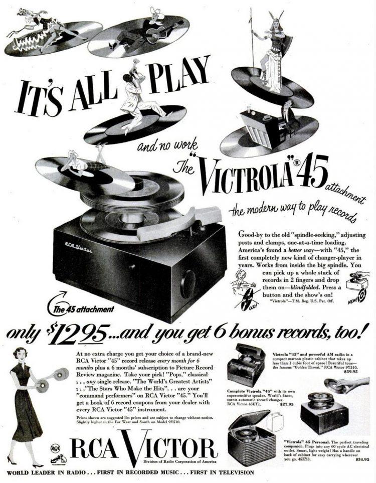 1950 Victrola 45 records