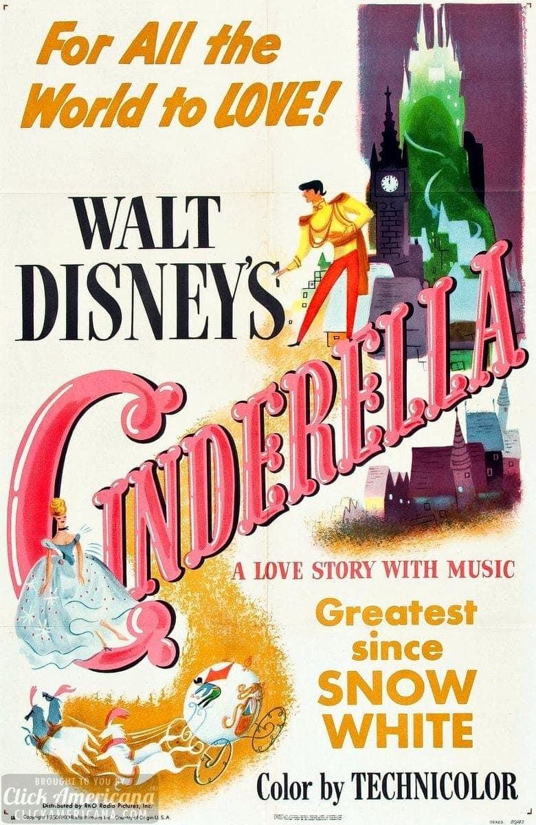 Walt Disney Ready To Release Cinderella 1950 Click