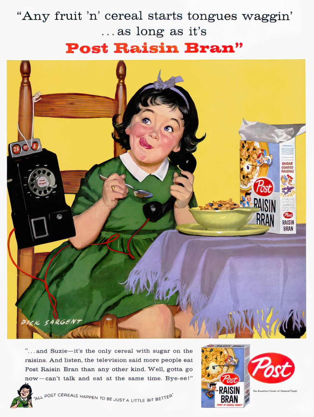 1950s Post Raisin Bran cereal