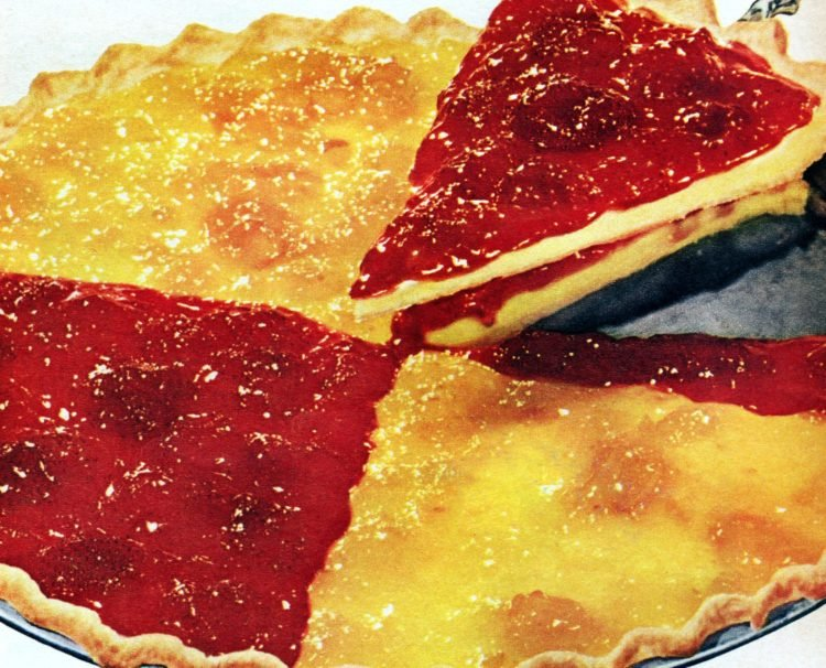 1950s Strawberry-peach dessert pizza It's a flaky party pie