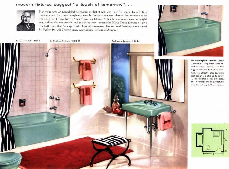 Midcentury bathrooms: See the most popular color schemes of the '50s