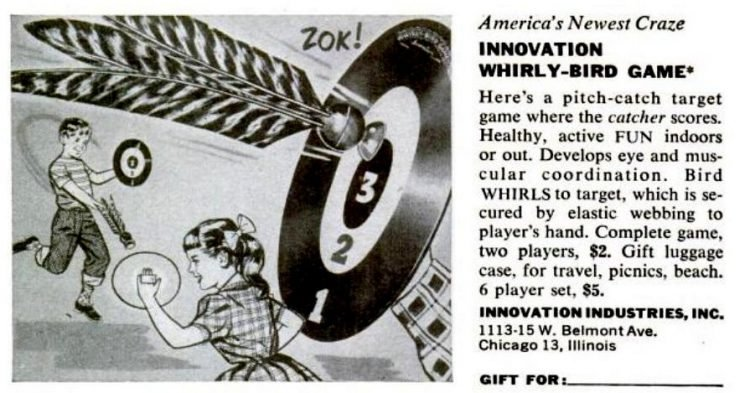1950s board games - Innovation Whirly-Bird game