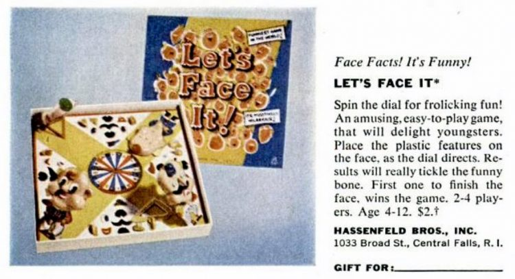 1950s board games - Let's Face It - Hassenfeld Bros