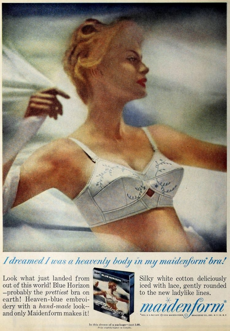 1950s bras and underwear fashion