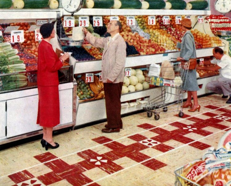1950s grocery store