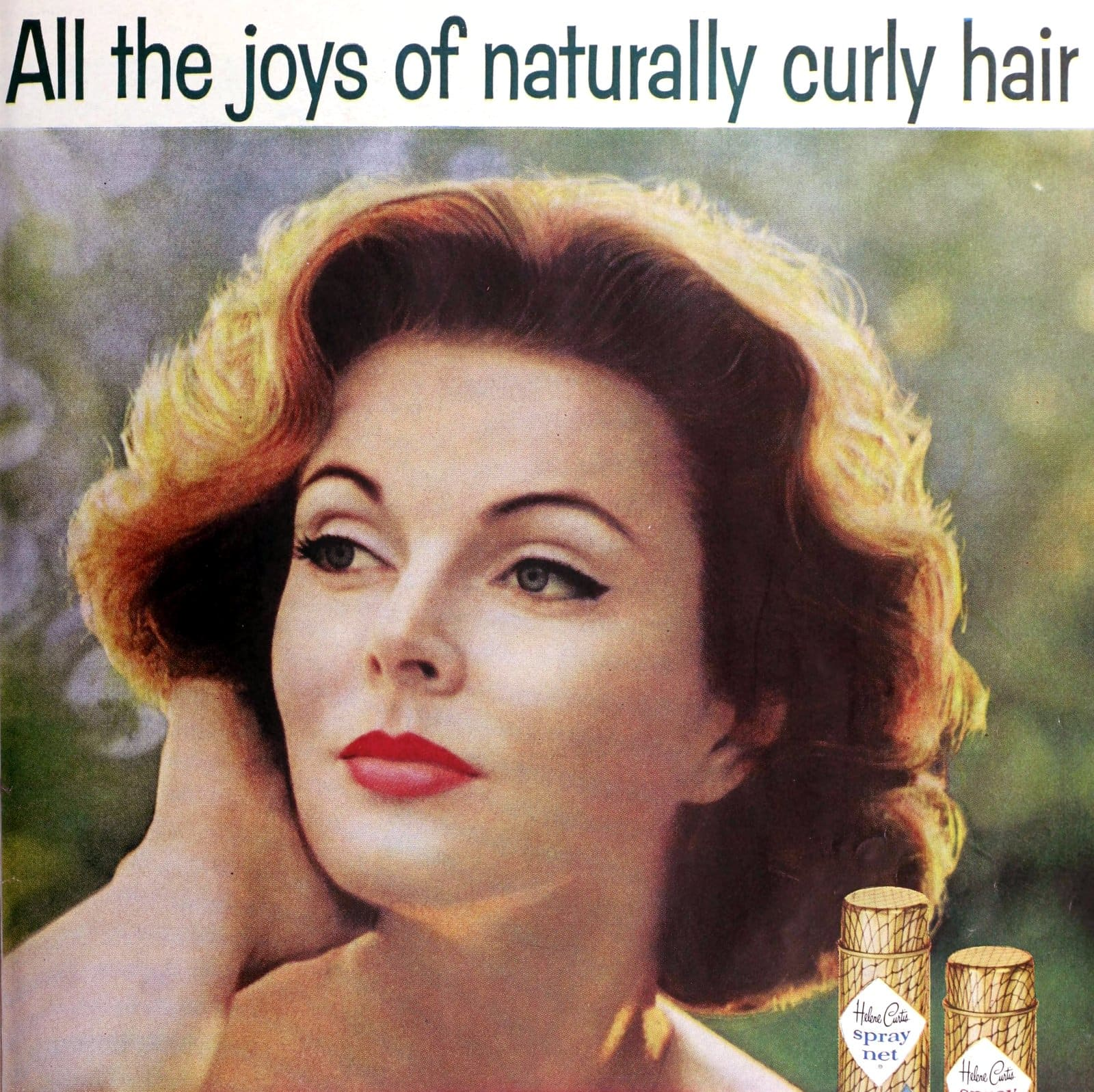 1950s hairspray brands for all the joys of naturally curly hair