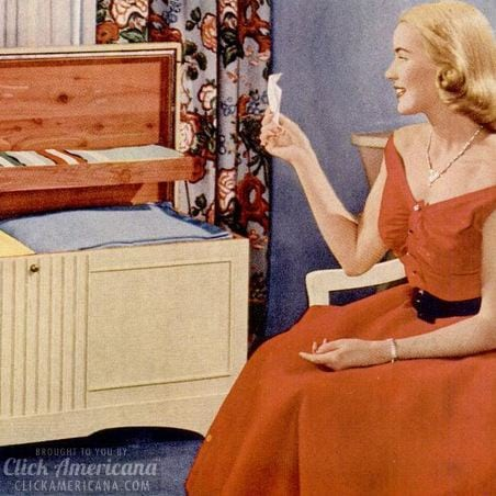 What every girl wants: Cedar-lined Lane hope chests (1950s)